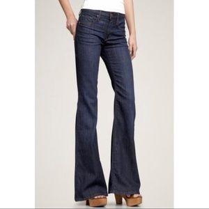 Gap High Rise Trouser Wide Leg Dark Wash Jeans 25
